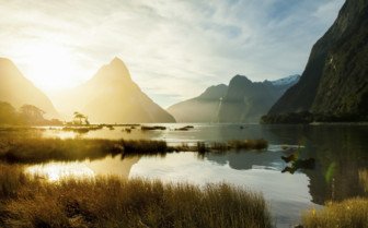 Dawn over Milford Sound