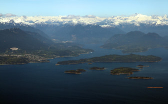 Vancouver Islands Aerial Shot
