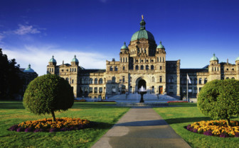 Parliament Victoria on Vancouver Island