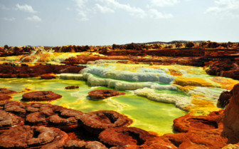 Dallol Volcano at the Danakil Depression