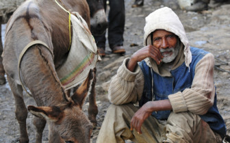 Man and Donkey in Ethiopia