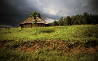 Traditional House in Papua New Guinea