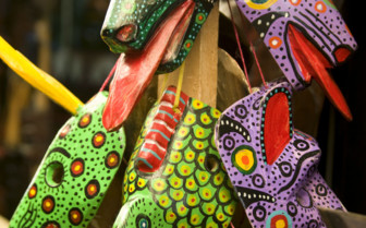 Colourful Head Masks in Guatemala