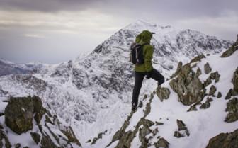 Hiker in Snowdonia
