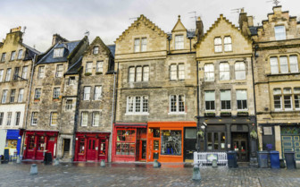 Terraced Shops in Edinburgh