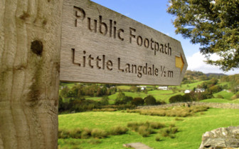 Footpath to Little Langdale