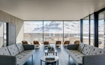 The Common Lounge at Deplar Farm, Iceland