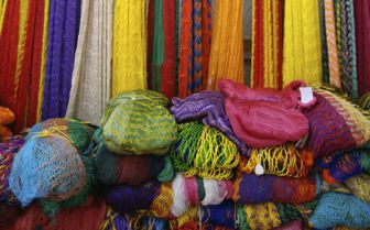 Colourful hammocks, Mexico