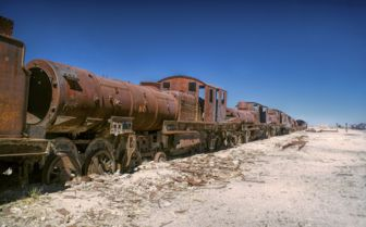 Locomotive on the Salt Pans