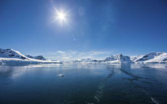 Sun in Antarctica