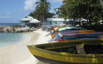 Colourful Fishing Boats, St Kitts