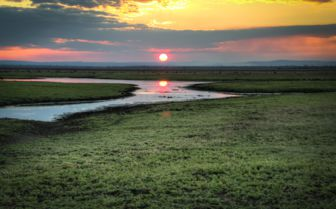 Sunset over the National Park, Mozambique