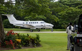 Private Plane at Laucala Island