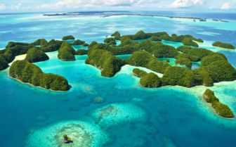 Rock islands off Palau