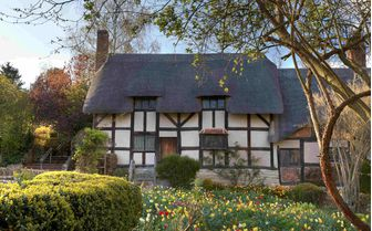 Pictured is Anne Hathaways cottage, Stratford