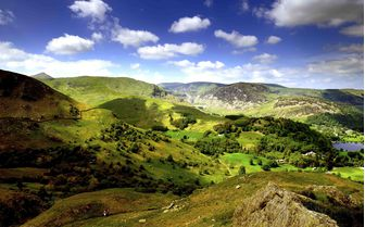 panoramic views of Ullswater, Lake District