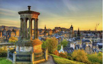 Pictured here is Edinburgh's Dugald Stewart Monument