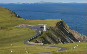 A view of Sumburgh in the Shetland Islands