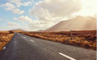 Connermara's sunlit open road