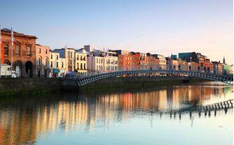 A view of Ireland's capital city, Dublin