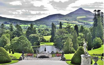 A mountain view of County Wicklow in Eastern Ireland