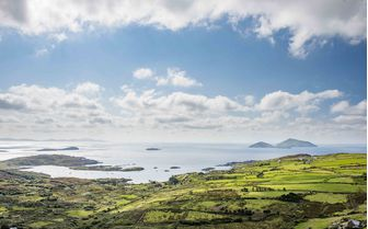 A view of the Skellig Islands, southwestern coast of Ireland