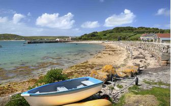A beach view of the Scilly Isles