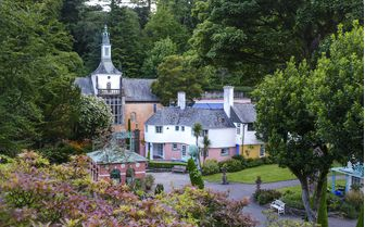 An image of Portmeirion Village in North Wales