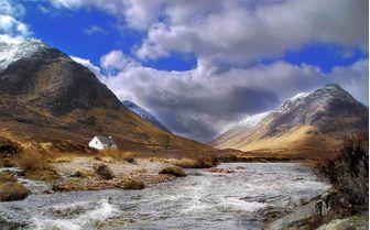 A view of Glencoe, scottish highlands