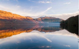 The stunning view of Loch Lomond