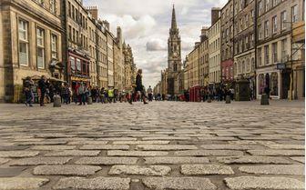 The cobbled streets of Servants Walk, Edinburgh