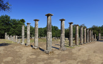 Doric Columns in the Peloponnese