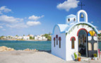 A Colourful Seaside Church in Crete