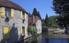 Beze old village on river