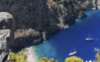 Aegean aerial cove view