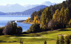 Mountains overlooking Lake