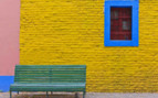 Street and Bench Colourful