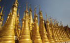 Golden stupas