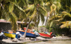 Colourful fishing boat Bequia St Vincent