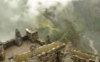 Looking down on Machu Picchu