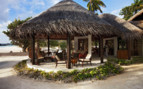 Beach terrace at the hotel