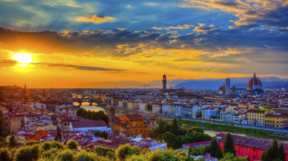 Romantic Sunset over Florence