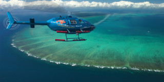Picture of Helicopter Over Great Barrier Reef