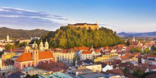 Ljubljana Castle sunny view