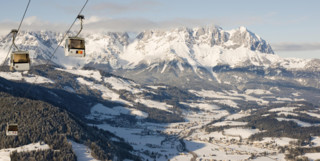 Chairlift in the Tyrolean Alps