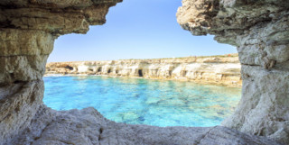 Cliffs and arches in Aiya Napa