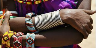 African tribe beads