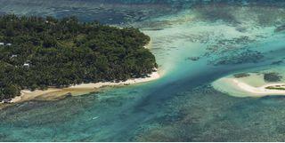 Ile Sainte Marie aerial view