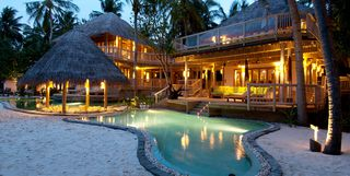 A villa at Soneva Fushi with large pool