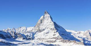 Matterhorn mountain on clear sunny day